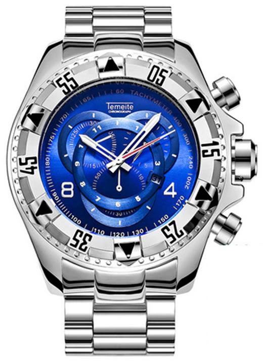 Relógio Temeite Reserve Prata Azul
