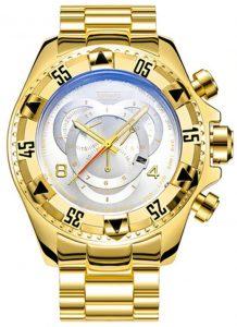Relógio Temeite Reserve Dourado Branco