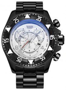 Relógio Temeite Reserve Preto Branco