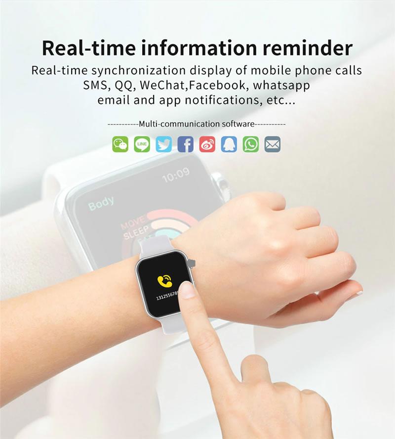 relógio smartwatch f10 inteligente ios android Receba Chamadas Celular
