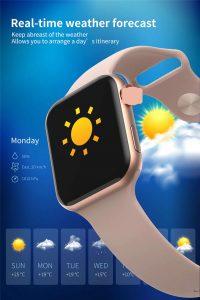 relógio smartwatch f10 inteligente ios android Temperatura