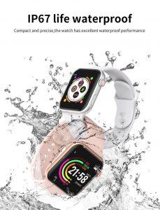 relógio smartwatch f10 inteligente ios android Prova D`agua