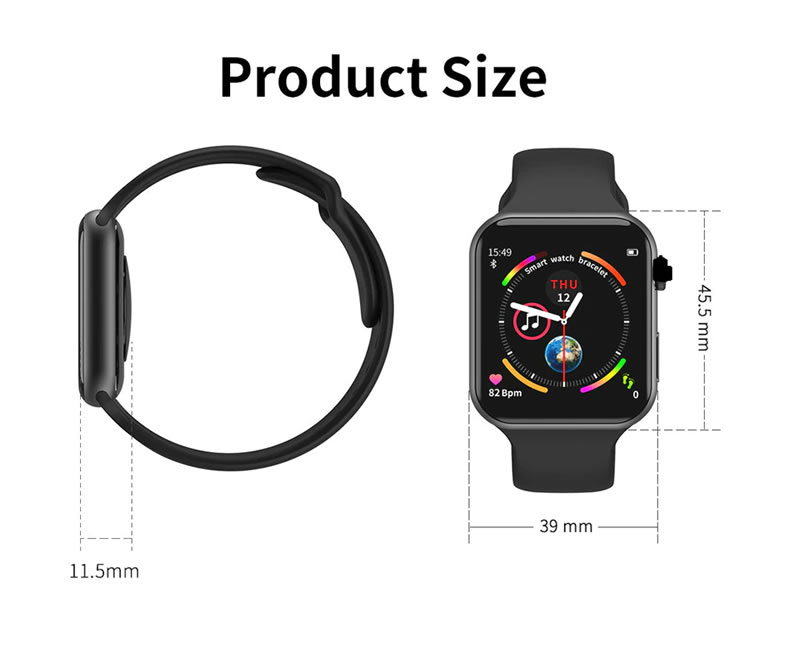 relógio smartwatch f10 inteligente ios android Telaa Full screeen