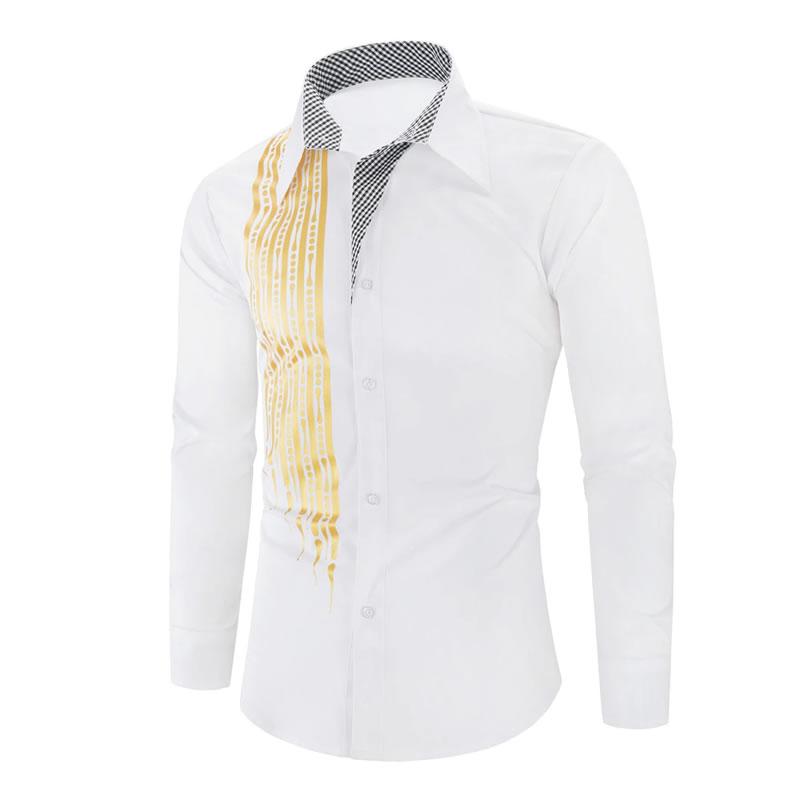 Camisa Importada Masculina Slim Fit Alfa Men Branca