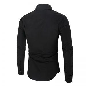 Camisa Importada Masculina Slim Fit Alfa Men Preta Costas