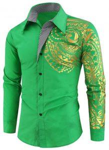 Camisa Importada Masculinas Slim Fit Macho Alfa Verde Estilosa Moda