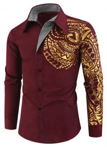 Camisa Importada Masculinas Slim Fit Macho Alfa Vinho Estilosa Moda