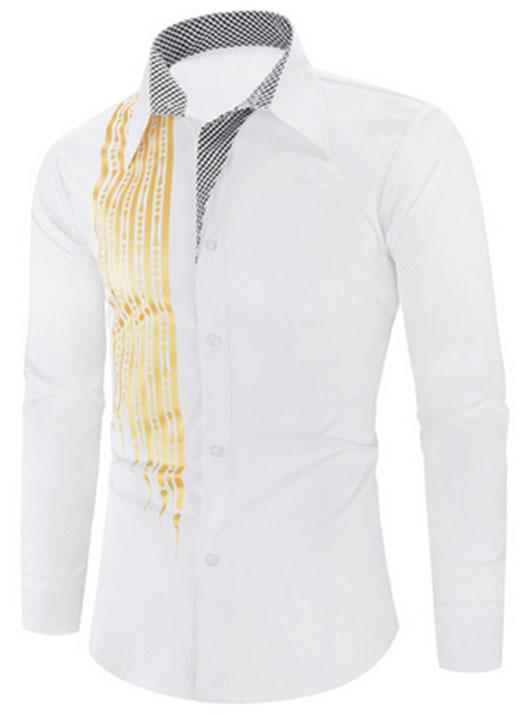 Camisa Importada Masculinas Slim Fit Alfa Men Branca