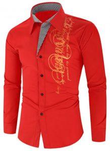 Camisa Importada Masculina Slim Fit Men Alfa Vermelha