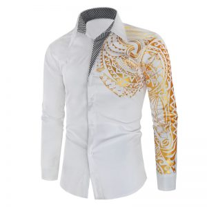 Camisa Importada Masculina Slim Fit Macho Alfa Branca