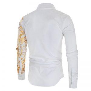Camisa Importada Masculina Slim Fit Macho Alfa Branca Costas