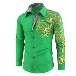 Camisa Importada Masculina Slim Fit Macho Alfa Verde