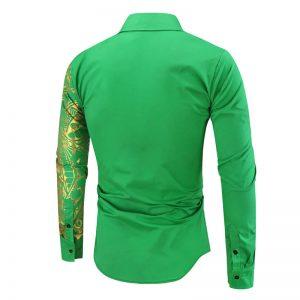 Camisa Importada Masculina Slim Fit Macho Alfa Verde Costas