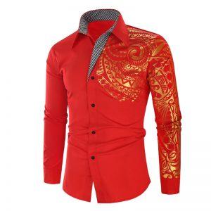 Camisa Importada Masculina Slim Fit Macho Alfa Vermelha