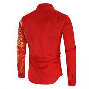 Camisa Importada Masculina Slim Fit Macho Alfa Vermelha Costas