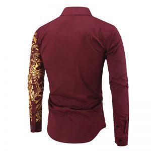 Camisa Importada Masculina Slim Fit Macho Alfa Vinho Costas