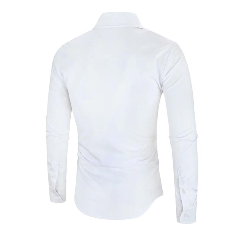 Camisa Importada Masculina Slim Fit Men Alfa Branca Costas Luxo Luxury Moda Estilosa