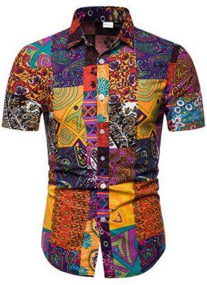 Camisa Masculina Importada Slim Fit Colorida