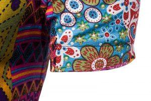 Camisa Masculina Importada Slim Fit Colorida Manga Curta - Camisas Masculinas