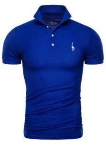 Camisa Slim Fit Polo Giraffe Azul