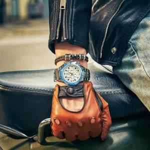 Relógio Masculino Cronógrafo Wwoor Luxo 6668 Azul Masculino