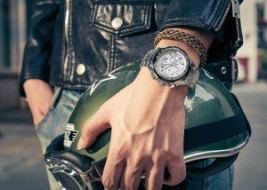 Relógio Masculino Cronógrafo Wwoor Luxo 6668 Prata Masculino