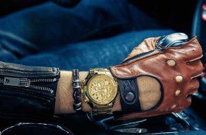 Relógio Masculino Cronógrafo Wwoor Luxo 6668 Dourado Ouro