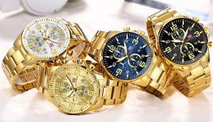 Relógio Mini Focus Golden Style Cores