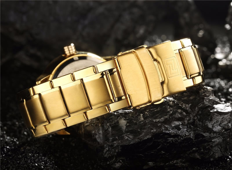 Relógio Masculino NAVIFORCE dourado Pulso 9090 M Original