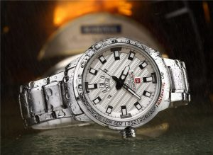 Relógio Masculino NAVIFORCE Prata 9090 M Original