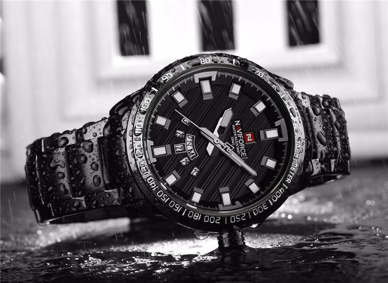 Relógio Masculino NAVIFORCE Preto Agua 9090 M Original