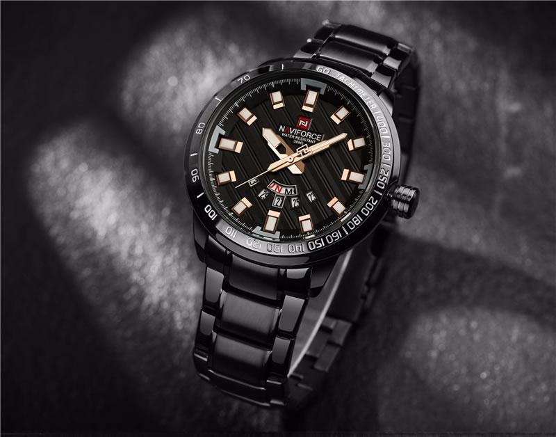 Relógio Masculino NAVIFORCE Preto Rose 9090 M Original