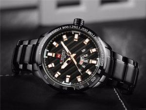 Relógio Masculino NAVIFORCE Preto Rose Luxo 9090 M Original