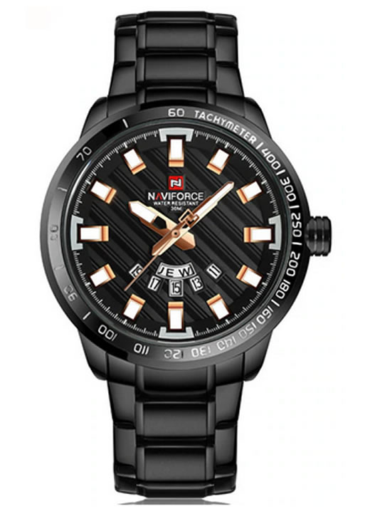 Relógio Masculino NAVIFORCE 9090 M Preto Rose Original