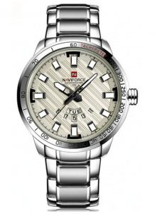 Relógio Masculino NAVIFORCE 9090 M Prata Branco Original