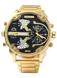 Relógio Shiweibao Luxo Douardo Preto Masculino Homem D3137