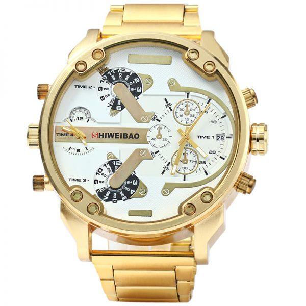 Relógio Masculino Dourado Luxury