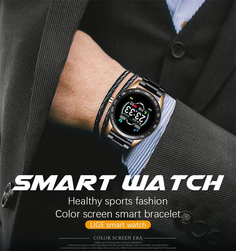 Relógio Smartwatch Relógio Eletrônico Lige Force Luxo Luxuoso