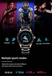 Relógio Smartwatch Relógio Eletrônico Lige Force Funções Esportes Touch