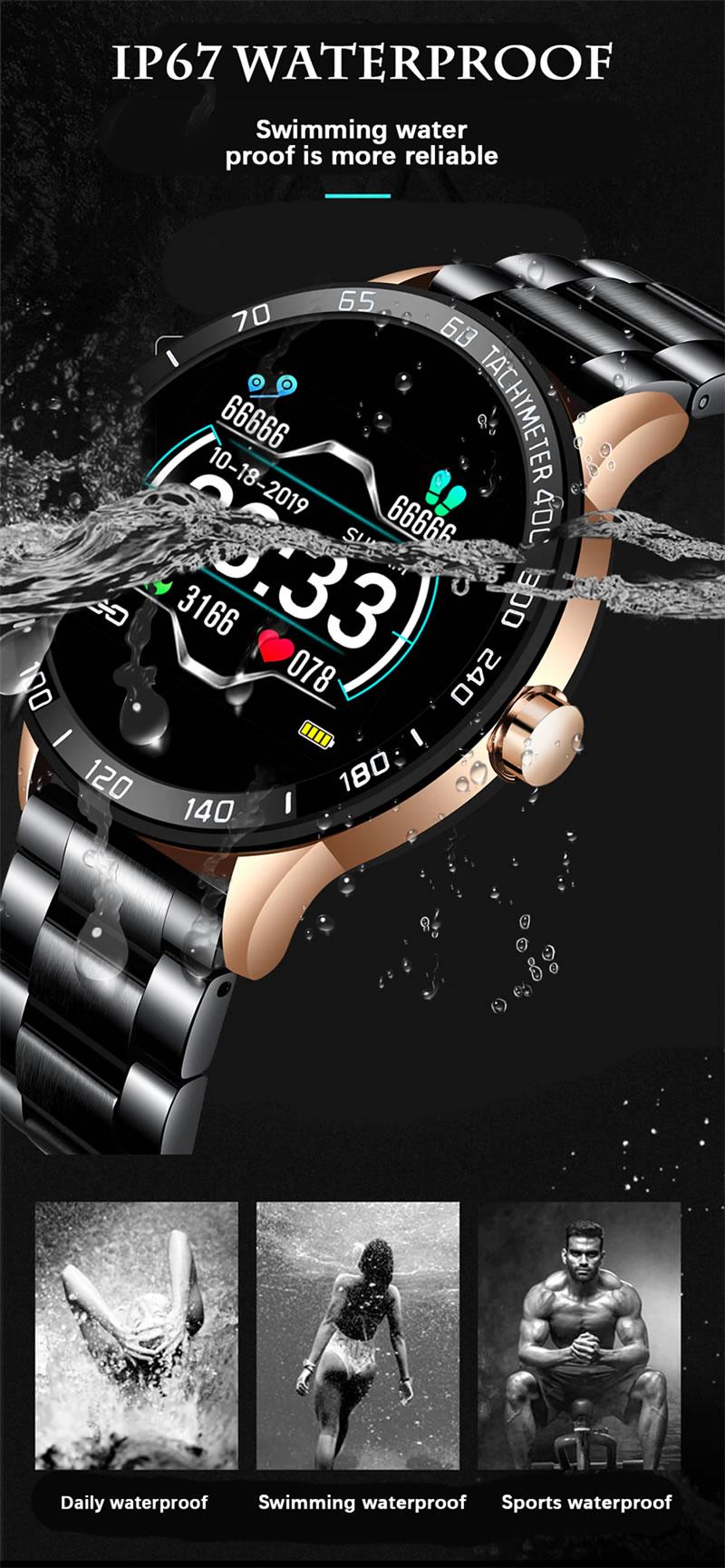 Relógio Smartwatch Relógio Eletrônico Lige Force A Prova D`agua IP67