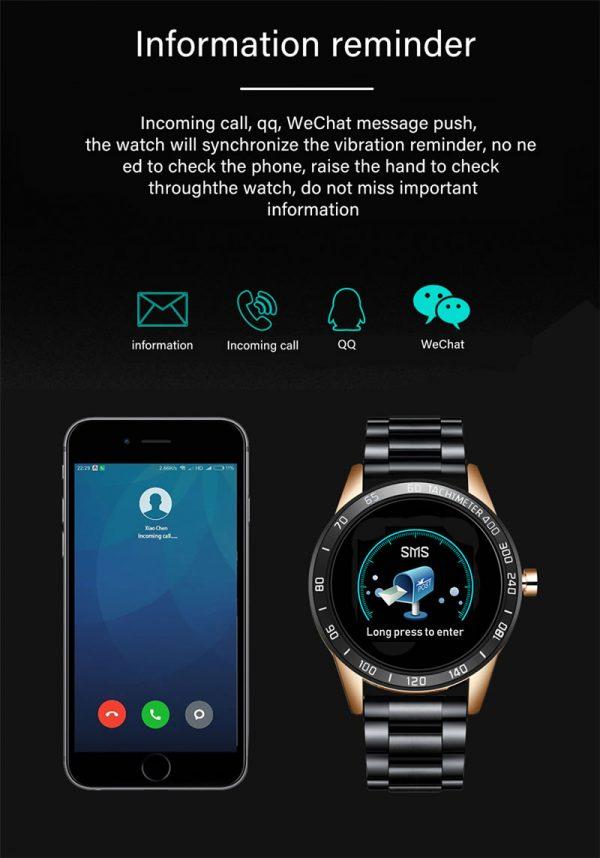 Relógio Smartwatch Relógio Eletrônico Lige Force Integrado com APP Mobile