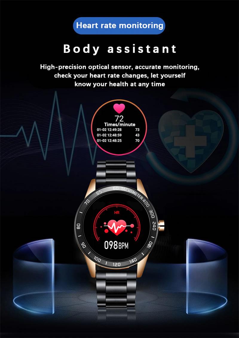 Relógio Smartwatch Relógio Eletrônico Lige Force Monitoramento Cardiaco Coração