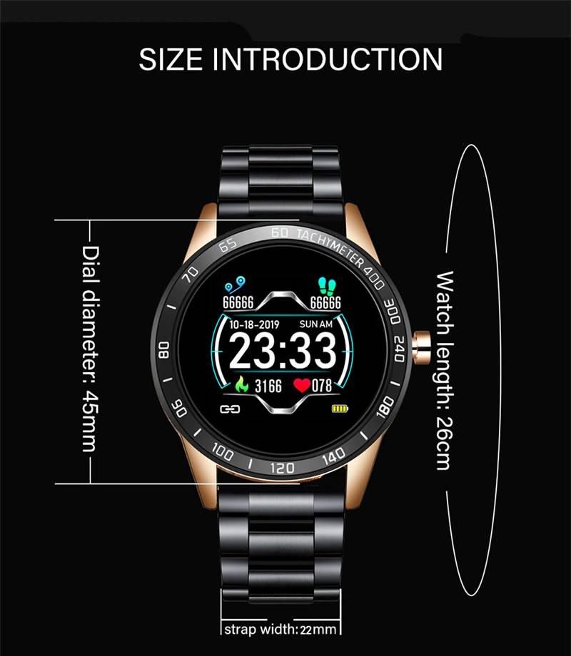 Relógio Smartwatch Relógio Eletrônico Lige Force Slim Fit Ultra Fino