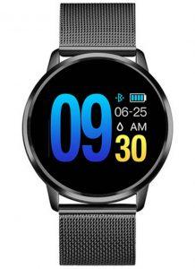 Smartwatch Relógio Eletrônico Q8 Gear Pulseira de Metal Aço Preto