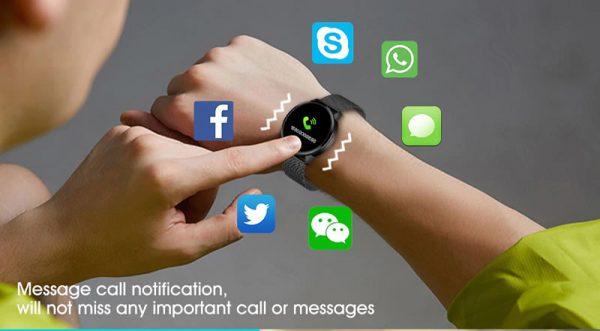Smartwatch Relógio Eletrônico Q8 Gear Mensagem de Notificação