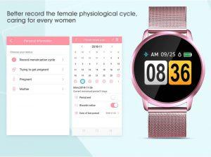 Função do sexo feminino Quando você definir o seu sexo para mulher no aplicativo banda h, ele pode gravar o seu ciclo de menstruação, dia de ovulação, etc. Dê mais cuidado para a mulheres.