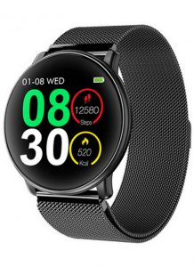 Smartwatch Umidigi Uwatch2 Relógio Inteligente Pulseira de Aço Preto