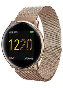Smartwatch Umidigi Uwatch2 Relógio Inteligente Pulseira de Aço Dourado