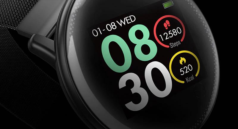 Smartwatch Umidigi Uwatch2 Relógio Inteligente Pulseira de Metal Aço
