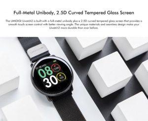 Smartwatch Umidigi Uwatch2 Relógio Inteligente Pulseira Metal Aço Redondo